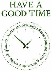 Stencil G méret 21 x 29,7 cm - Have a good time