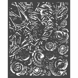 Stencil TD méret 20 x 25 cm / 0,5 mm - Jég és kagylók