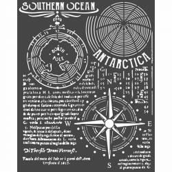 Stencil TD méret 20x 25 cm / 0,5 mm - Déli óceán