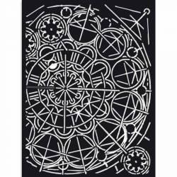 Vastag stencil 15x20 cm - Sir Vagabond - Geometria