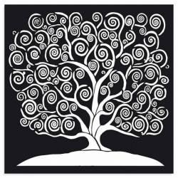 Stencil TD méret 30x30 cm/ 0,5mm - Az élet fája
