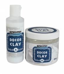 Decor clay szett, 200 g + 80 ml