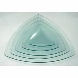 Üvegtál háromszög 19X19 cm-es
