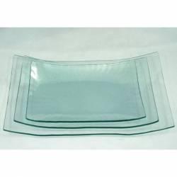 Üvegtál hajlított 33,2X19,5X5,2 cm-es