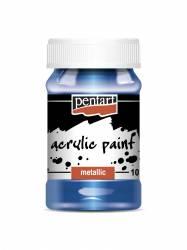 Metál akrilfesték 100 ml kék
