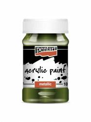 Metál akrilfesték 100 ml zöld