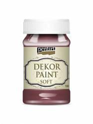 Dekorfesték lágy 100 ml burgundi vörös