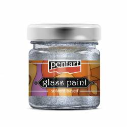 Üvegfesték 30 ml csillogó ezüst