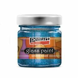 Üvegfesték 30 ml csillogó kék