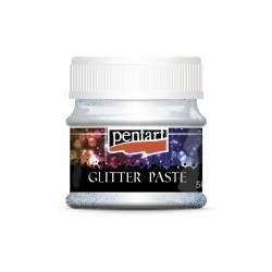 Glitterpaszta finom 50 ml ezüst