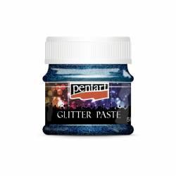 Glitterpaszta finom 50 ml sötétkék