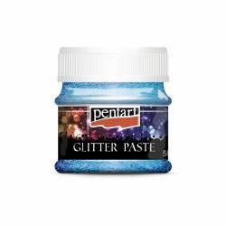 Glitterpaszta finom 50 ml világoskék