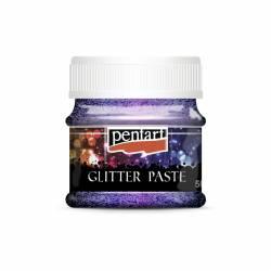 Glitterpaszta finom 50 ml lila