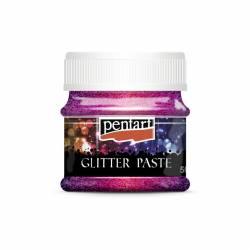 Glitterpaszta finom 50 ml pink