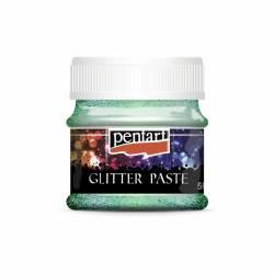 Glitterpaszta finom 50 ml világoszöld