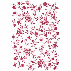 Stencil G méret 21x29,7 cm - kicsi rózsák
