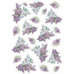 Dekupázs rizspapír A4 Texture with lilac