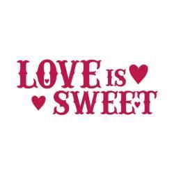 Stencil B méret cm38x15 Love is sweet