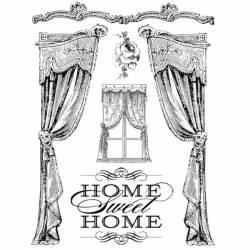 HD gumi pecsételő 14 x 18 cm - Home Sweet Home