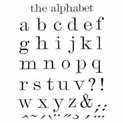Akril pecsételő 14 x 18 cm The Alphabet cursive