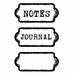 Akril pecsételő 7 x 11 cm Journal tag