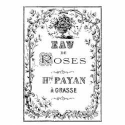 Akril pecsételő 7 x 11 cm Eau de roses