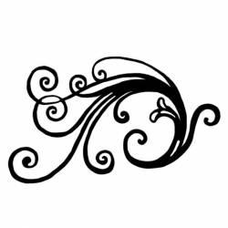 Akril pecsételő 7 x 11 cm Left spiral