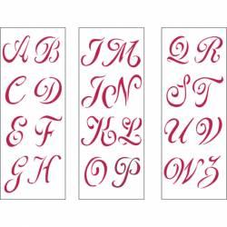 Stencil B méret 38x15 cm Capital alphabet complet 3 sheets