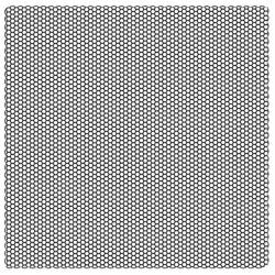 Akril pecsételő 10 x 10 cm - Honeycomb texture