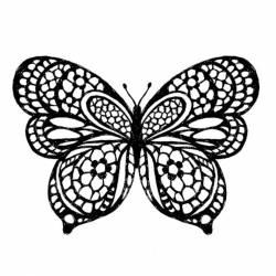 Akril pecsételő 10 x 10 cm - Butterfly