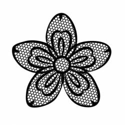 Akril pecsételő 10 x 10 cm - Flower