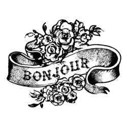 Akril pecsételő 5 x 7 cm - Bonjour