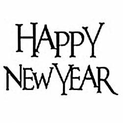 Akril pecsételő 5 x 7 cm - Happy New Year