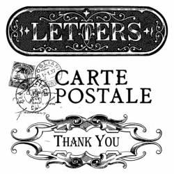 Akril pecsételő 10 x 10 cm Post card