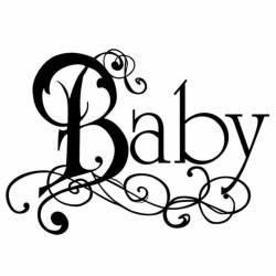 Akril pecsételő 5 x 7 cm Baby