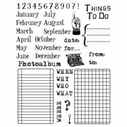 Akril pecsételő 14 x 18 cm - naptár
