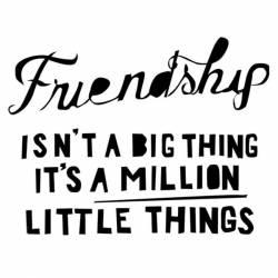 Akril pecsételő 5 x 7 cm - barátság-mondás angolul