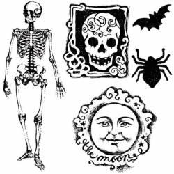 Akril pecsételő 10 x 10 cm Halloween