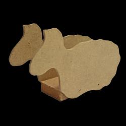 Bárány alakú szalvétatartó MDF 15x10x4 cm