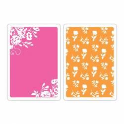 Domborító minta, 2db - virágos bordűr és rózsaminta