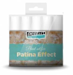 Patina hatás festék szett, 5 x 20 ml festék