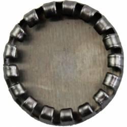 Fém díszítőelem, foglalat 1,2 cm, 10 db/csomag