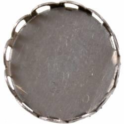 Fém díszítőelem, foglalat 1,5 cm, 10 db/csomag