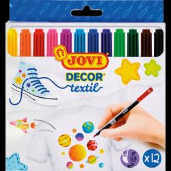 JOVI Textil filctoll készlet, 12 szín