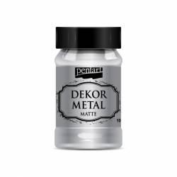 Dekormetál matt 100 ml ezüst