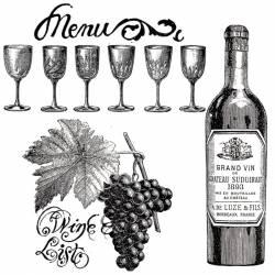 Akril pecsételő 10 x 10 cm Wine
