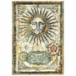 Dekupázs rizspapír A4 csom. - Alchemy Sun