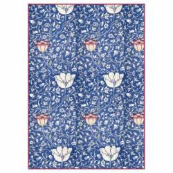 Dekupázs rizspapír A4 csom. - Kék arabeszk virágokkal