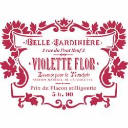 Stencil H méret cm 44x60 Violette flor