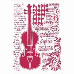 Stencil G méret 21 x 29,7 cm - Hegedű